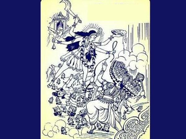 Sita kills Ravana